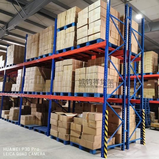 黄岛某工厂仓库定制重型仓储货架已顺利安装完成