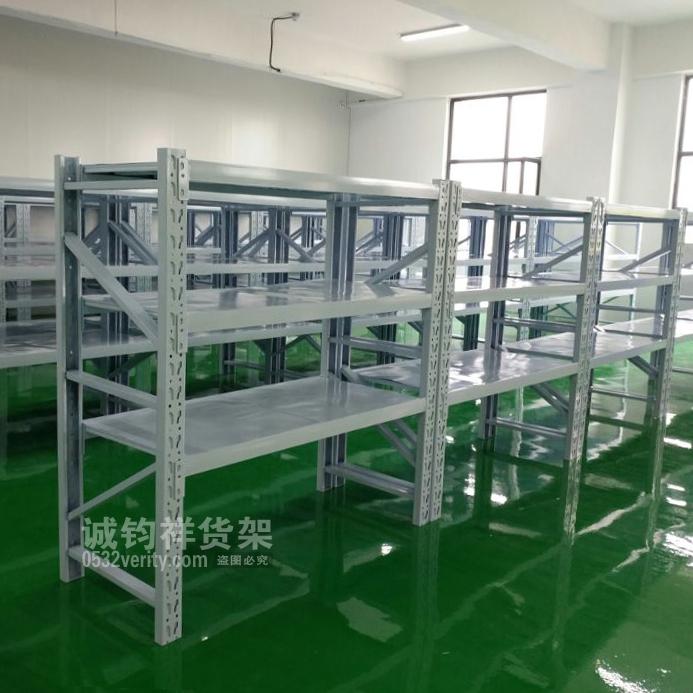 青岛某公司在青岛诚钧祥货架定制一批中型仓储货架并顺利安装完成~